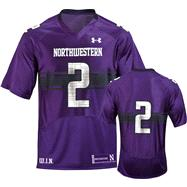 Northwestern Wildcats 2012 Replica Football Jersey: Women's Purple Under Armour #2 Replica Football Jersey