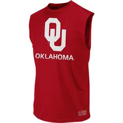 Oklahoma Sooners Cardinal Rush Performance Sleeveless T-Shirt