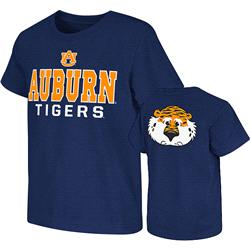 Auburn Tigers Navy Kids 4-7 Platform Dual-Blend T-Shirt