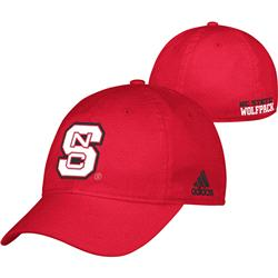 North Carolina State Wolfpack Red adidas 2013 Camp Slope Flex Hat