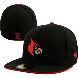 Louisville Cardinals New Era Black 59FIFTY Fitted Hat