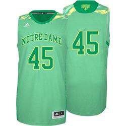 Notre Dame Fighting Irish adidas Green #45 2013 NCAA March Madness On Court Premier Basketball Jersey