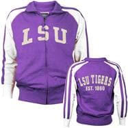 LSU Tigers Prestige Fill Zip Track Jacket