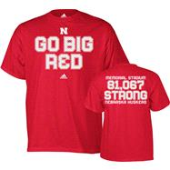Nebraska Cornhuskers adidas Red Go Team Stadium Attendance T-Shirt