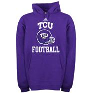 TCU Horned Frogs adidas Purple Football Helmet Patch Hooded Sweatshirt