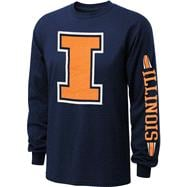 Illinois Fighting Illini Navy Power to the People Long Sleeve T-Shirt