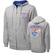 Kansas Jayhawks Griffin Legend Thermal Lined Full-Zip Hooded Sweatshirt