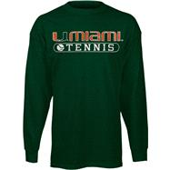 Miami Hurricanes Green Tennis Long Sleeve T-Shirt
