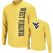 West Virginia Mountaineers Navy Hurricane Slub Knit Long Sleeve T-Shirt