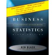Business Statistics: Contemporary Decision Making, 6th Edition,9780470409015