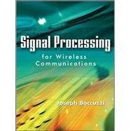 Signal Processing for Wireless Communications, 9780071489058