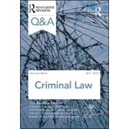 Q&A Criminal Law 2011-2012, 9780415599108  