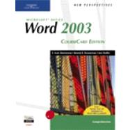 New Perspectives on Microsoft Office Word 2003, Comprehensive, CourseCard Edition,9781418839116