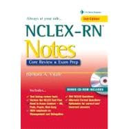 NCLEX-RN Notes: Core Review and Exam Prep (Book with Mini CD-ROM),9780803629134