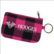 Hodges Zipper ID Holder - Pink Plaid