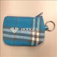 Hodges Zipper ID Holder - Blue Plaid
