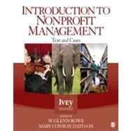 Introduction to Nonprofit Management : Text and Cases,9781412999236