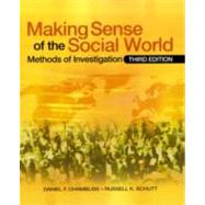 Making Sense of the Social World : Methods of Investigation,9781412969390