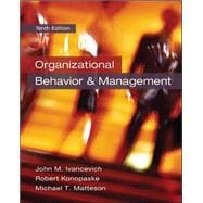 Organizational Behavior and Management,9780078029462