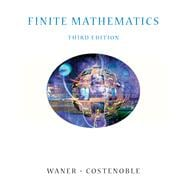 Finite Mathematics (with InfoTrac),9780534419493