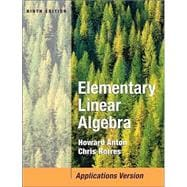 Elementary Linear Algebra with Applications, 9th Edition