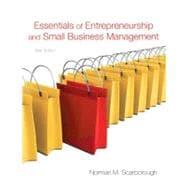 Essentials of Entrepreneurship and Small Business Management, 9780136109594  