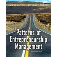 Patterns of Entrepreneurship Management, 3rd Edition, 9780470169698  