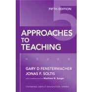 Approaches To Teaching,9780807749821
