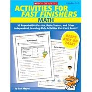 Activities for Fast Finishers: Math : 55 Reproducible Puzzle..., 9780545159845  