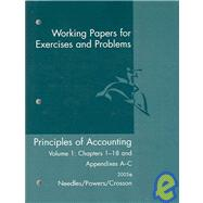 Working Papers : Used with ... Needles-Principles of Accounting; Needles-Principles of Financial Accounting,9780618379927