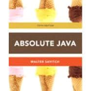 Absolute Java plus MyProgrammingLab with Pearson eText  --  Access Card