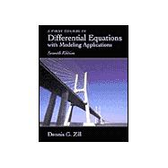 A First Course in Differential Equations With Modeling Applications,9780534379995