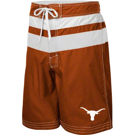 Texas Longhorns Dark Orange Striped Swim Trunks