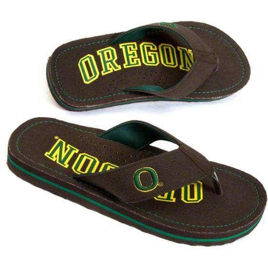 Oregon Ducks Canvas Flip Flops