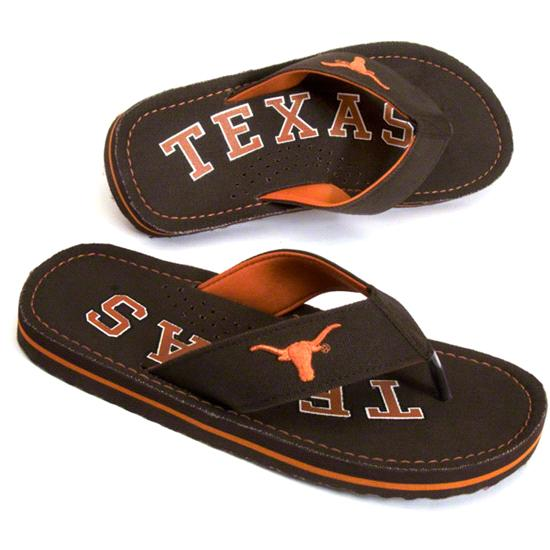 Texas Longhorns Canvas Flip Flops