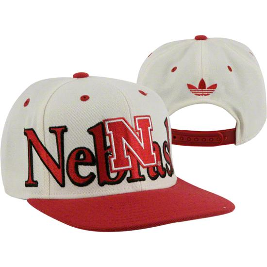 Nebraska Cornhuskers adidas White Crown Snapback Hat