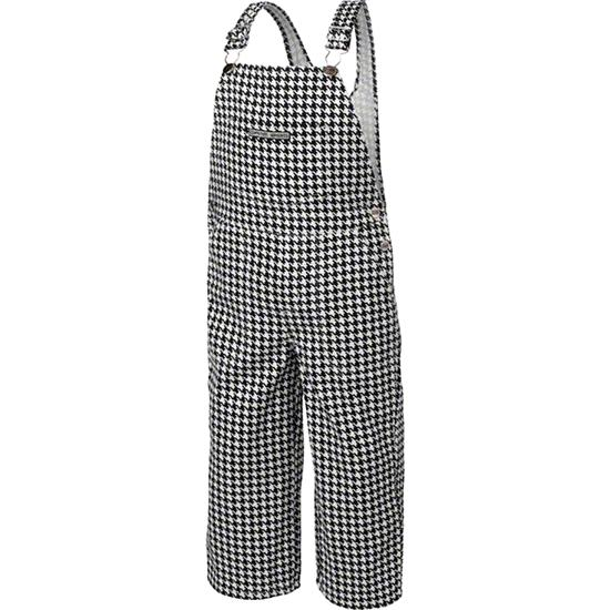 Toddler Black/White Houndstooth Game Bibs Overalls