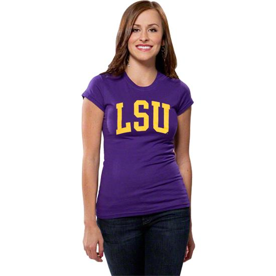 LSU Tigers Women's Purple Jr. Varsity Team Arch T-Shirt