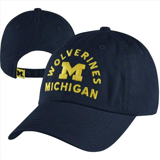 Michigan Wolverines Navy Faircatch Washed Adjustable Hat