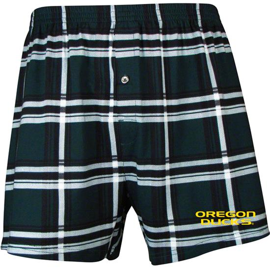 Oregon Ducks Millenium Knit Plaid Boxer Shorts