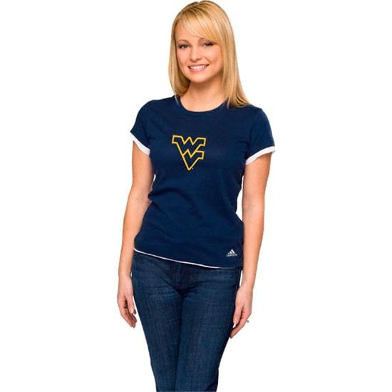 West Virginia Mountaineers Women's adidas 'Loud & Proud' Tissue Tee