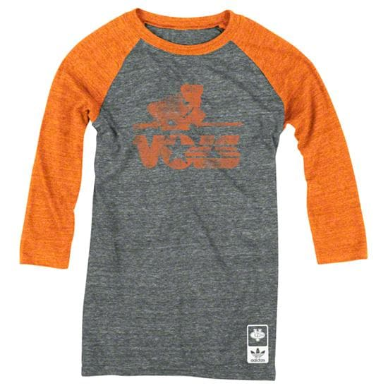 Tennessee Volunteers adidas Originals Women's Vintage Mascot 3/4 Sleeve Tri-Blend T-Shirt