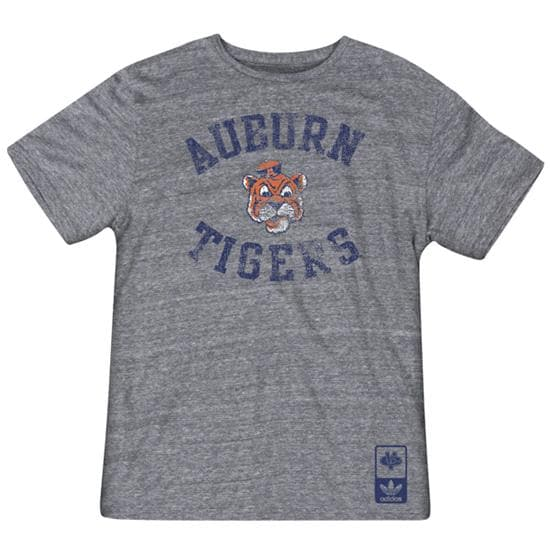 Auburn Tigers Grey Gym Class adidas Originals Tri-Blend Vintage Tee