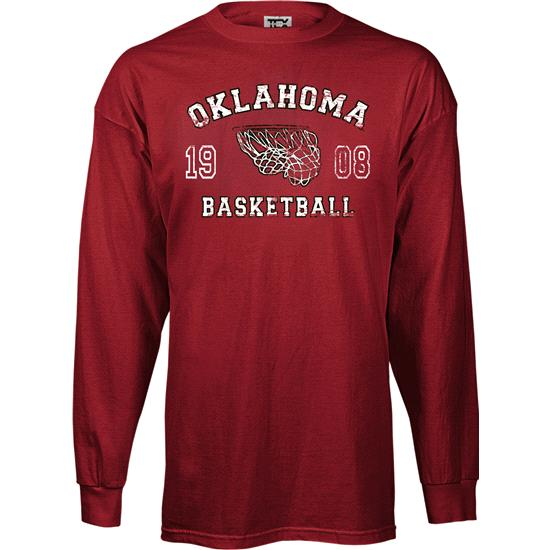 Oklahoma Sooners Legacy Basketball Long Sleeve T-Shirt