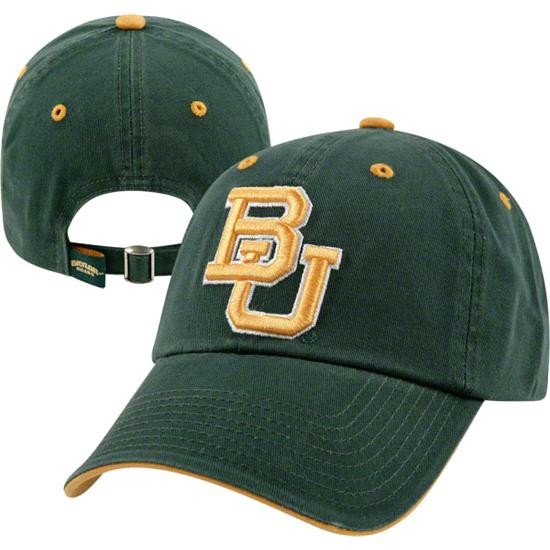Baylor Bears Team Color Crew Adjustable Strapback Hat