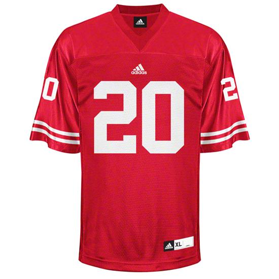 Wisconsin Badgers Football Jersey: adidas #20 Red Replica Football Jersey