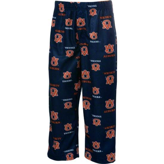 Auburn Tigers Youth Navy Team Logo Printed Pants
