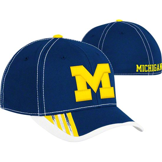Michigan Wolverines Youth Navy adidas 2011 Football Sideline Flex Hat
