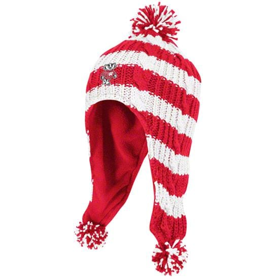 Wisconsin Badgers Youth adidas Tassel Knit Hat