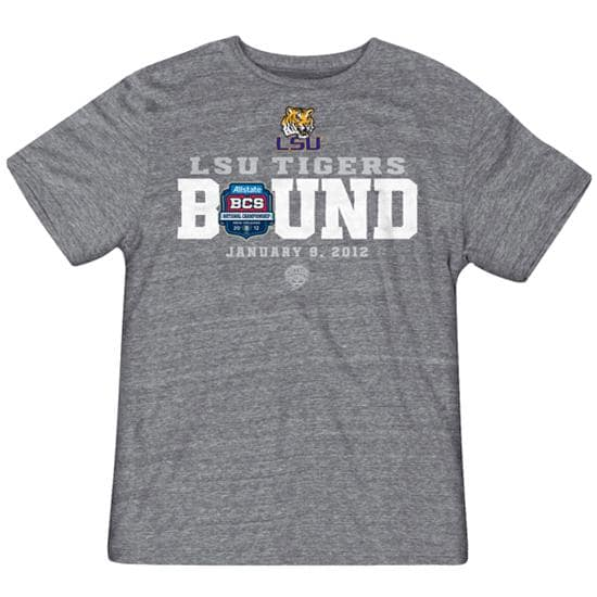 LSU Tigers 2011 BCS National Championship Game Bound Tri-Blend T-Shirt